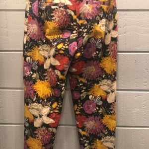Anthropologie Pants & Jumpsuits - Elevenses Anthropologie Fall Floral Pants Meas!